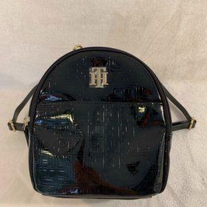 Tommy Hilfiger Signature Black Mini Backpack